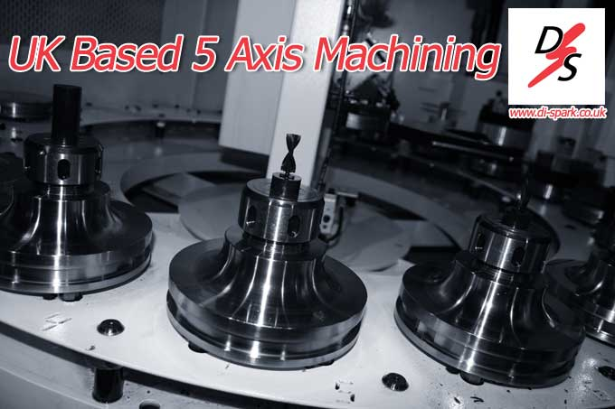 uk based 5 axis machining - shot of tool change