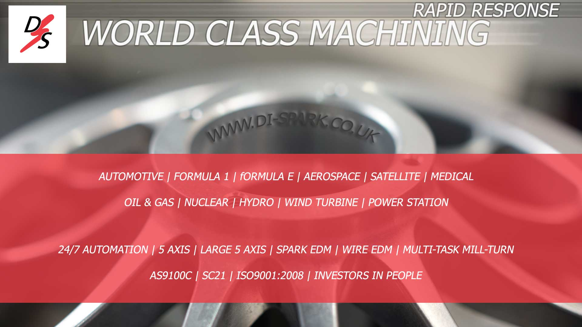 rapid response automotive machining and just in time machining