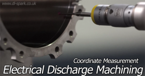 electrical discharge machining coordinate measurement (CMM)