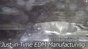 just in time electrical discharge machining