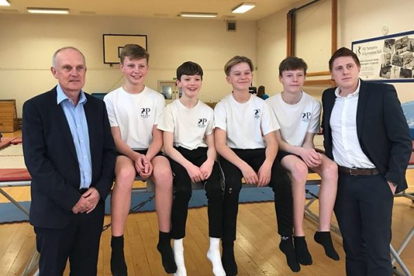 priory school trampolining team sponsored by Di-Spark Ltd