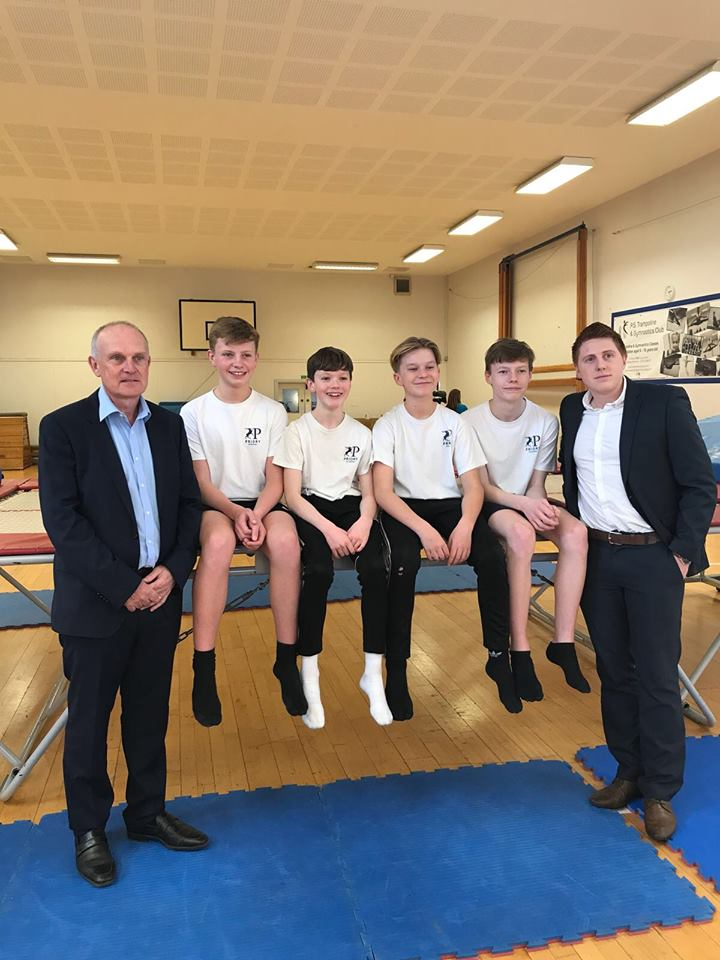 priory school trampolining team sponsored by Di-Spark Ltd