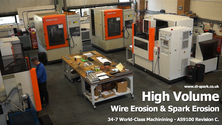 high volume wire erosion & spark erosion